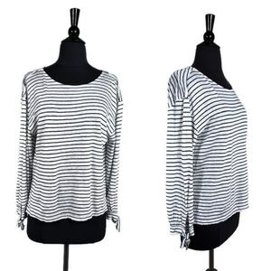 Joie Striped Linen Long Sleeve Top